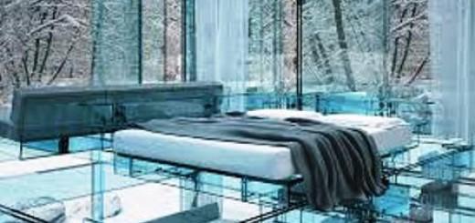 salon moderne deco vitré