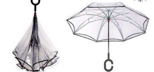 Parapluie inversé transparent
